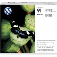 HP No. 91 Value Pack - Photo Black & Light Grey