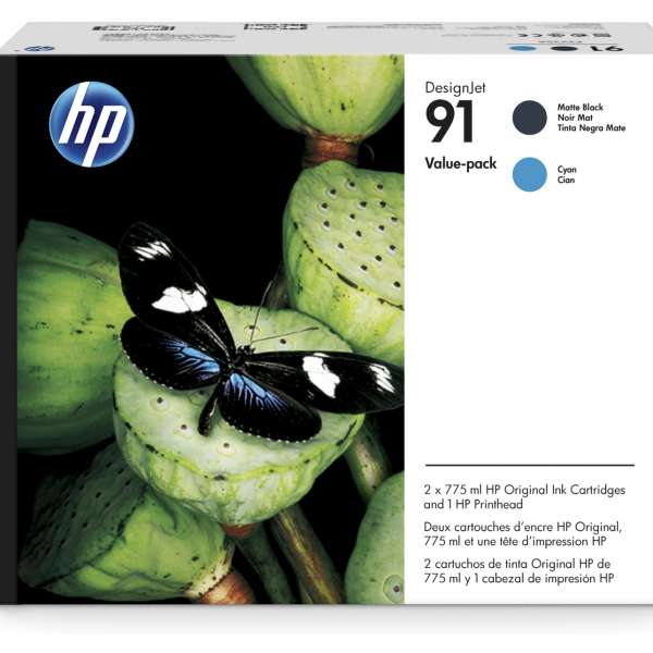 HP No. 91 Value Pack - Matte Black & Cyan