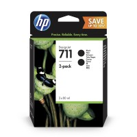 HP No. 711 Black Ink Cartridge - 80ml