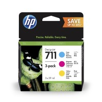 HP No. 711 Black Ink Cartridge - 80ml x 2
