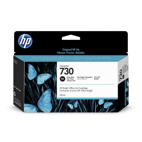 HP No. 730 Ink Cartridge Photo Black - 130ml
