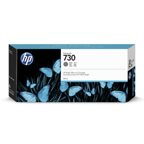 HP No. 730 Ink Cartridge Grey - 300ml