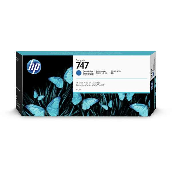 HP No. 747 Ink Cartridge Chromatic Blue - 300ml