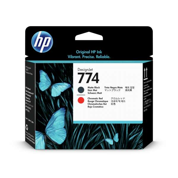 HP No. 774 Ink Printhead -Matte Black & Chromatic Red