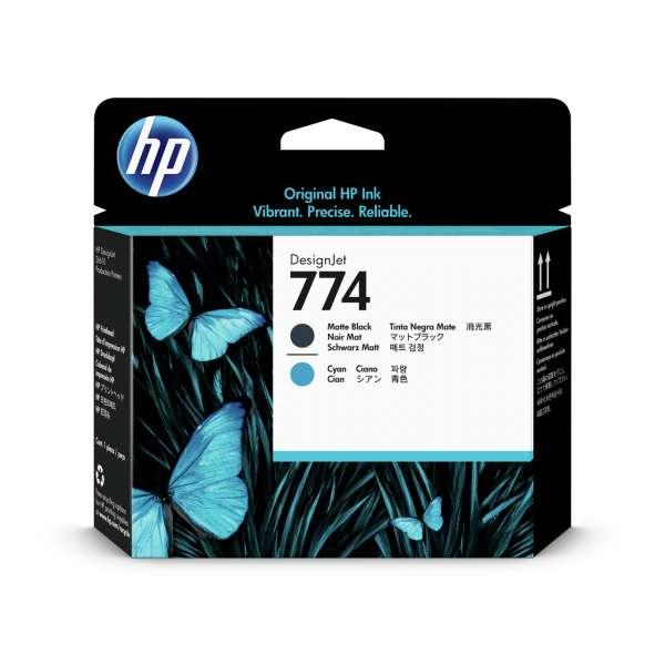 HP No. 774 Ink Printhead - Matte Black & Cyan