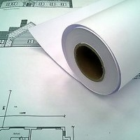 Uncoated 80gsm InkJet Paper 914mm x 50m (4 x rolls per box)