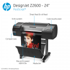 HP DesignJet Z2600 Large Format PostScript® Graphics Printer - 24