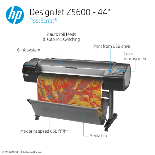 HP DesignJet Z5600 Large Format PostScript® Graphics Printer - 44