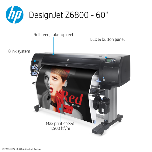 HP DesignJet Z6800 Large Format Graphics Printer - 60