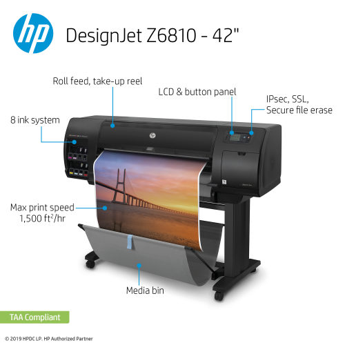 HP DesignJet Z6810 Large Format Photo Printer - 42