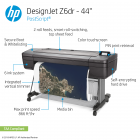 HP DesignJet Z6dr Large Format Dual-Roll PostScript® Graphics Printer - 44