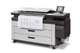HP PageWide XL 4000 printing monochrome print