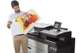 HP PageWide 5000 XL man checking full coloured print