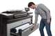 HP PageWide 5000 XL man using multiple drawers