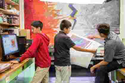 HP Designjet T120 ePrinter being used in schools