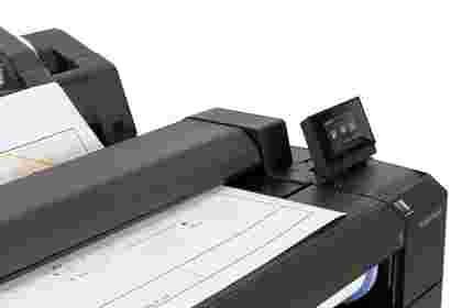 HP Designjet T2530 - close up of scanning a line drawing