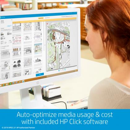 HP DesignJet T730 Large Format Wireless Printer - 36