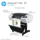 HP DesignJet T790 Large Format Wireless PostScript® Printer - 24