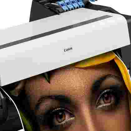 Canon graphics printer up close
