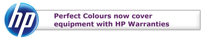 Perfect Colours now cover equipment with HP Warranties