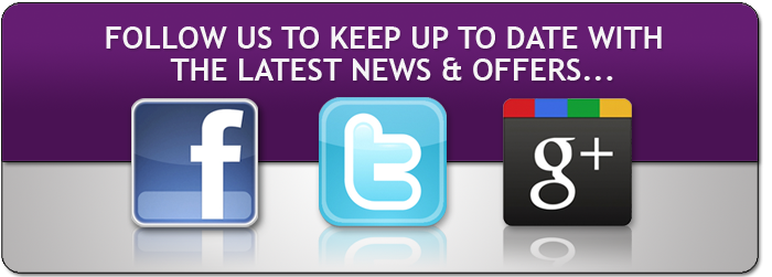 Follow us for the latest news, events and offers