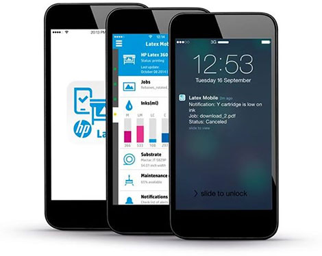 HP Latex Smartphone application